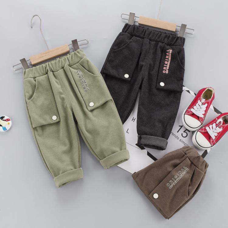 2020 Automne tout-petits Garçons Filles Pantalons simple Enfants Pantalons longs Pantalons enfants Mode Vêtements pour enfants