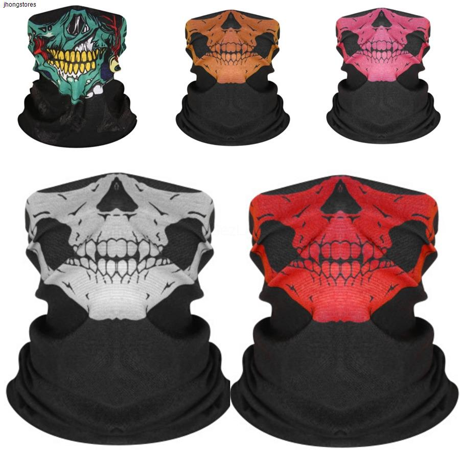 Crânio da magia Seamless Crânio 12Color Scarf Máscara Facial Máscaras Skull Scarf Ciclismo Equitação Aqueça Necker QN7R