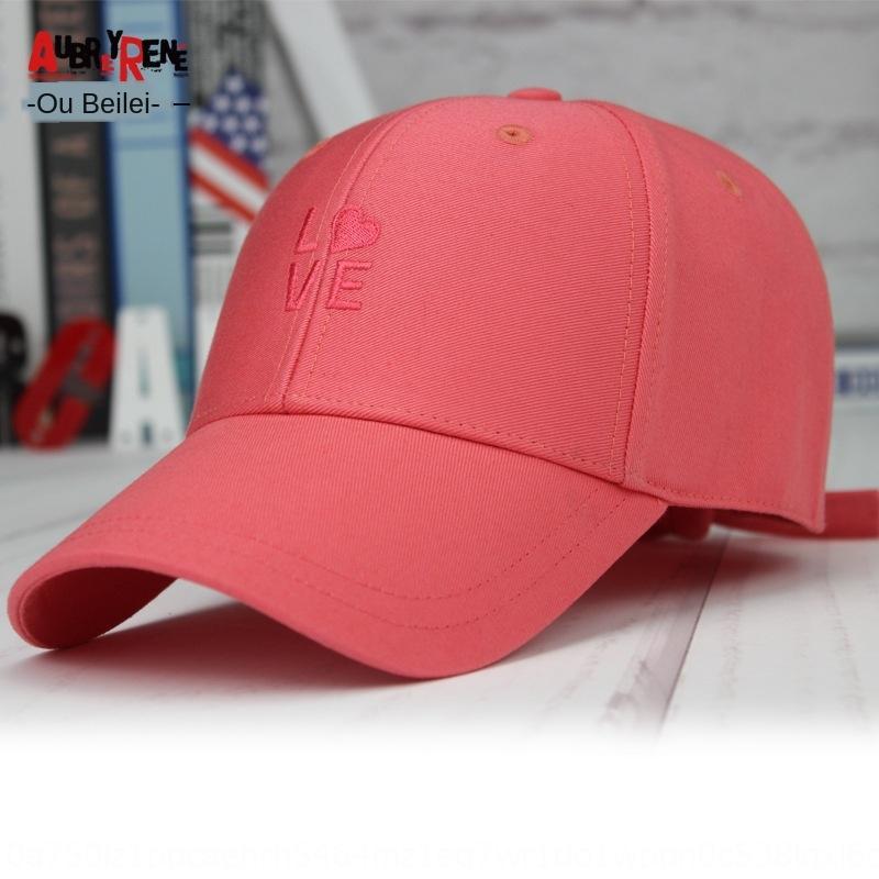 Cappello nuova ricamato a prova di sole carino Harajuku ricamato berretto da baseball di coda da baseball femminile tappo lungo Anti-bowknot lingua d'anatra delle donne OMDZw