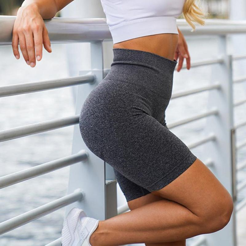 Fitness Yoga Shorts elastico Sport Shorts a vita alta di yoga allenamento di ginnastica di sport senza saldatura Esecuzione