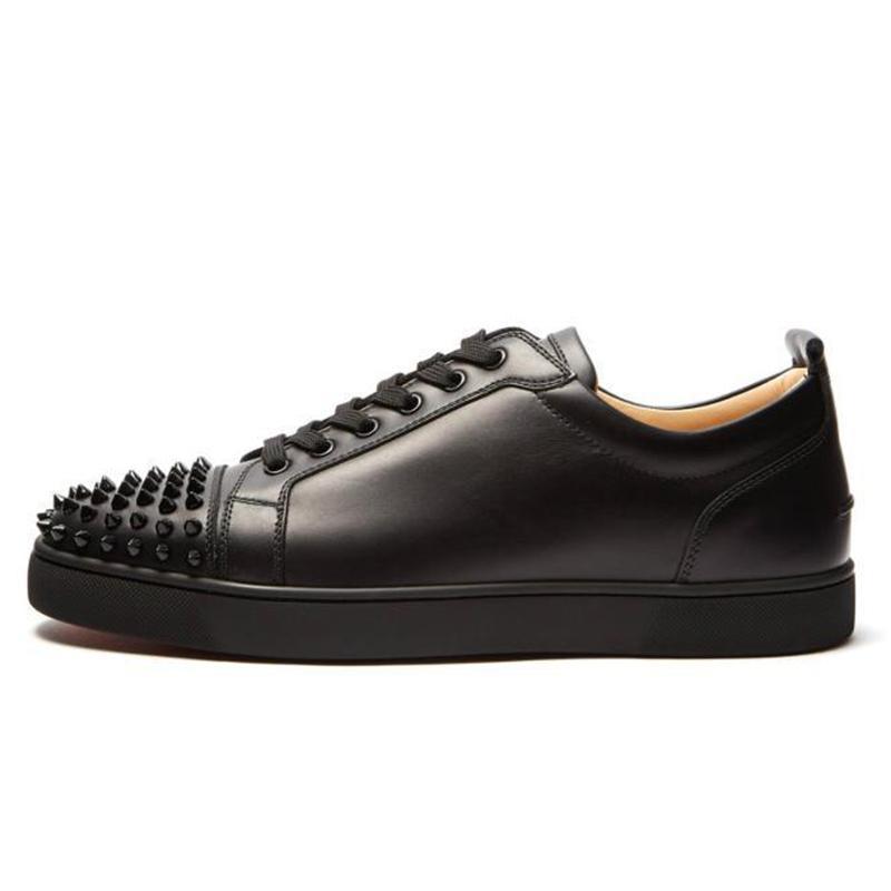 2019 ACE Red Designer inferior Luxo Marca Studded Spikes Flats sapatos casuais sapatos para amantes Homens e Mulheres do partido de couro genuíno Sneakers a5