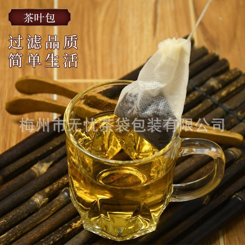 6 * 8 cm kumaş iplik çekme Dokumasız çay paketi, filtre çay baharat torba toz torbası tek dokunmamış