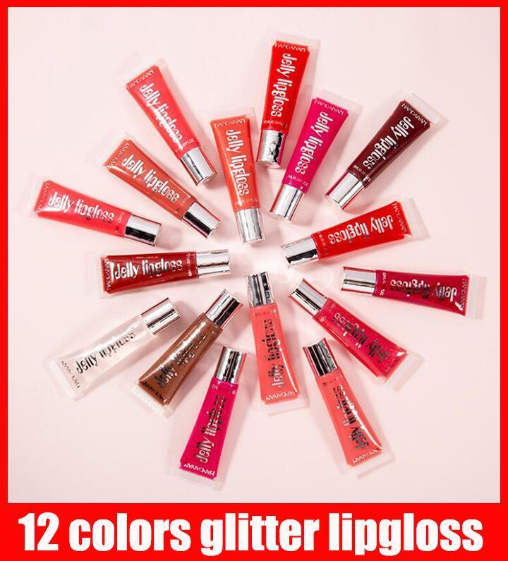 Dropshipping HANDAIYAN Jelly Lip Gloss Moisturizing Shiny glitter liquid lipstick clear lipgloss beauty Cosmetics lip tint Make Up Tool