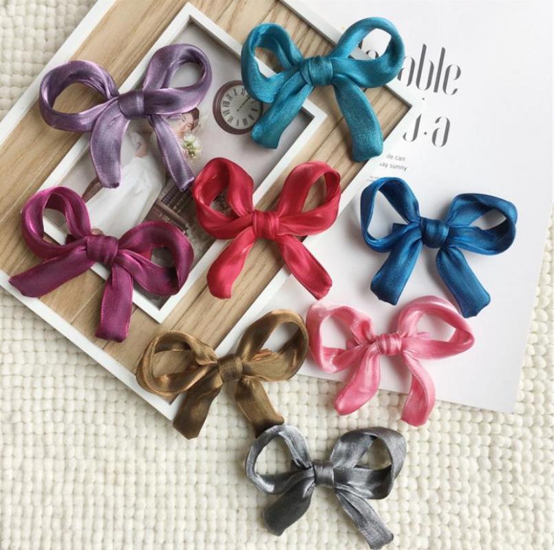 Шифон ленты Большие бигуди для волос Аксессуары для девочек Корея принцесса клипы цветок украшения Rim Шпилька J93