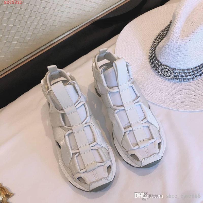 Los zapatos nuevos zapatos casuales de alta calidad de las señoras blancos y negros deportes de la moda de la luz corriente de Super suela de goma