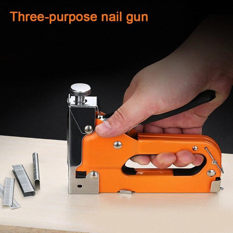 3 in 1 Door/T/U Type Heavy Duty Manual Nail Stapler Wood Hand Door Framing Finish Furniture Stapler HYD88 NtXm#