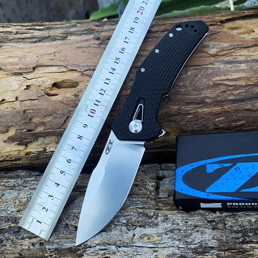 접이식 나이프 Zerotolerance ZT0308 일반 가장자리 블레이드 캠핑 사냥 사냥 knvies EDC 도구
