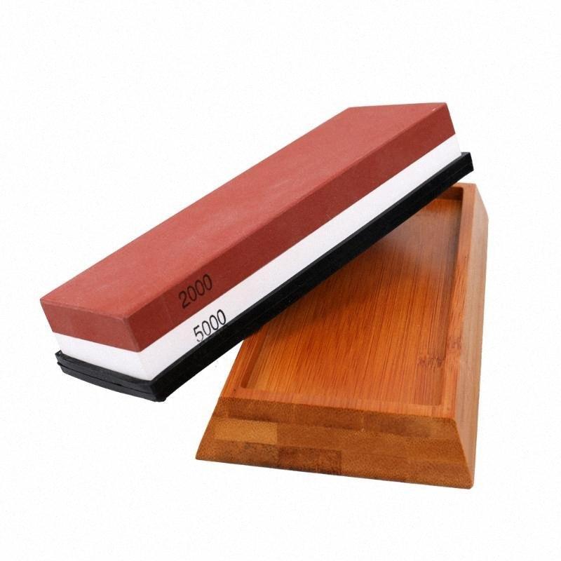 Yeni Silika Jel Underlay 0sSK # ile Mutfak Beyaz Korund Bileme Aracı için bicolor Whetstone Kesici Bileyici Stone çift taraflı