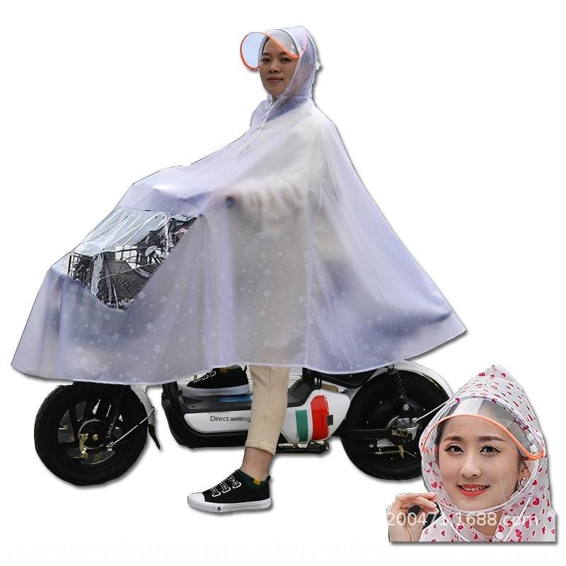 Ro3Gm akü Motosiklet elektrikli araç elektrikli araç otomobil motosiklet su geçirmez kalınlaşmış yağmurluk tek ve çift Şeffaf panço