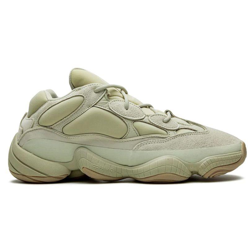 Kanye West Desert Rat 500 Zapatillas Running Pied Soft Vision Sal Hueso Blanco Blush Amarillo Para Venta Con Caja De Zapatillas De Zapatillas Tienda Precios al Por Menor