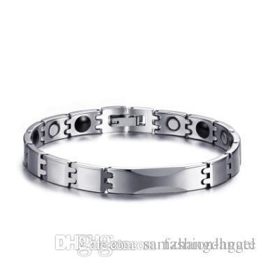 H182 Christmas gift mixed order men's tungsten carbide magnetic bracelets magnet germanium bracelet healthcare hermatite jewels jewelry 005