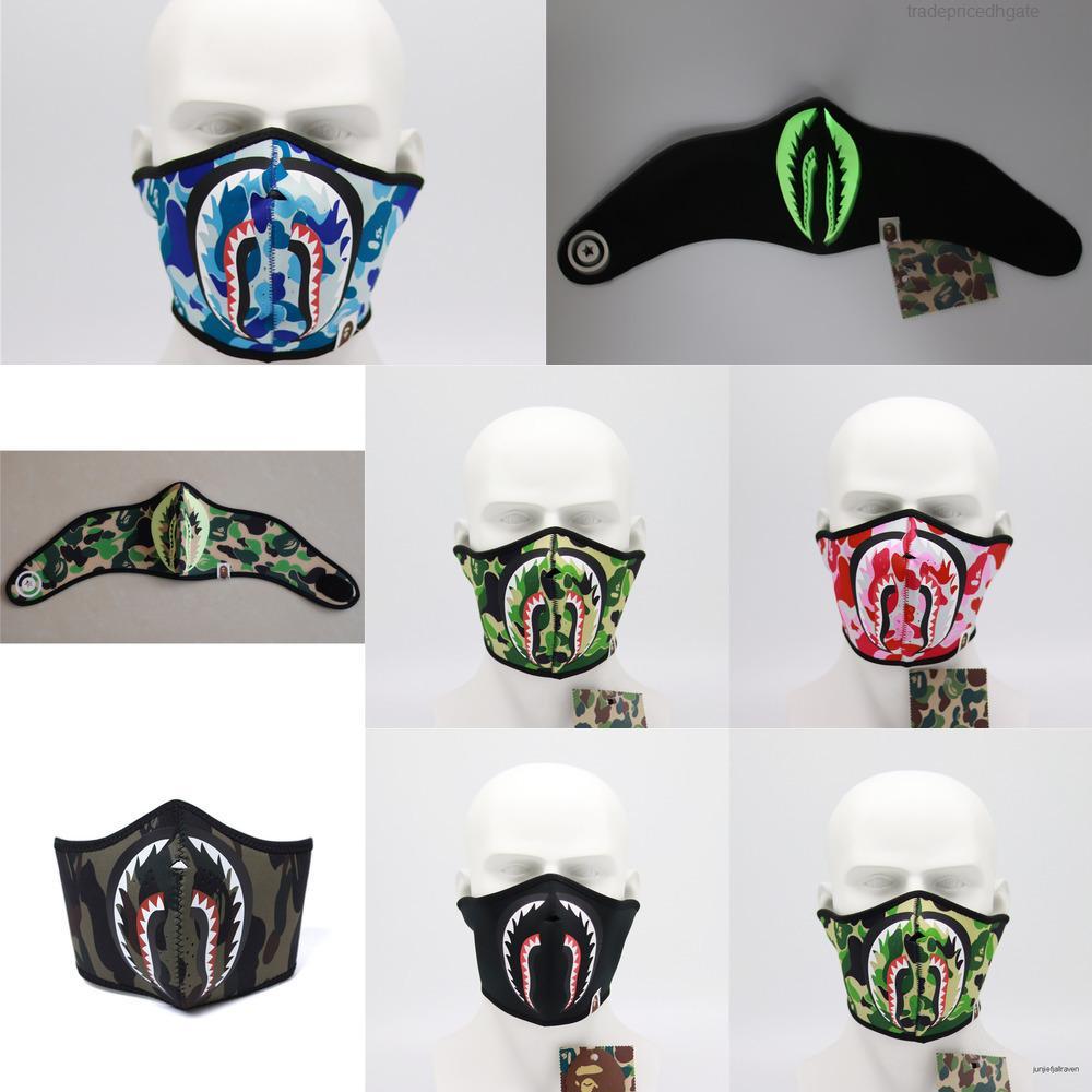 Gesicht Shark Mund Anti-Staub-Abdeckung gedruckt Radfahren Motorrad Maske Waschbar Wiederverwendbare Halb Fa A4gu