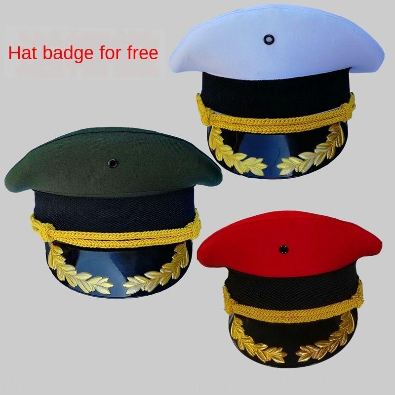 الرجال بوتيك الجيش الأخضر سانت ميزوهو فرقة الطبول شرف بوتيك قبعة الرجال قبعة كبيرة الحرس سقف الأداء الأمني الكبير كاب