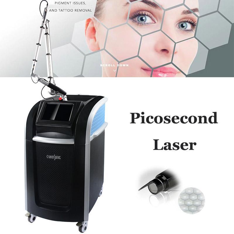 Profesyonel Sunuz Picosecond Lazer Makinesi 755nm Odak Lens Dizisi Pico Lazer Dövme Temizleme Çil Çekim Spot Pigmentasyon Arıtma Makineleri