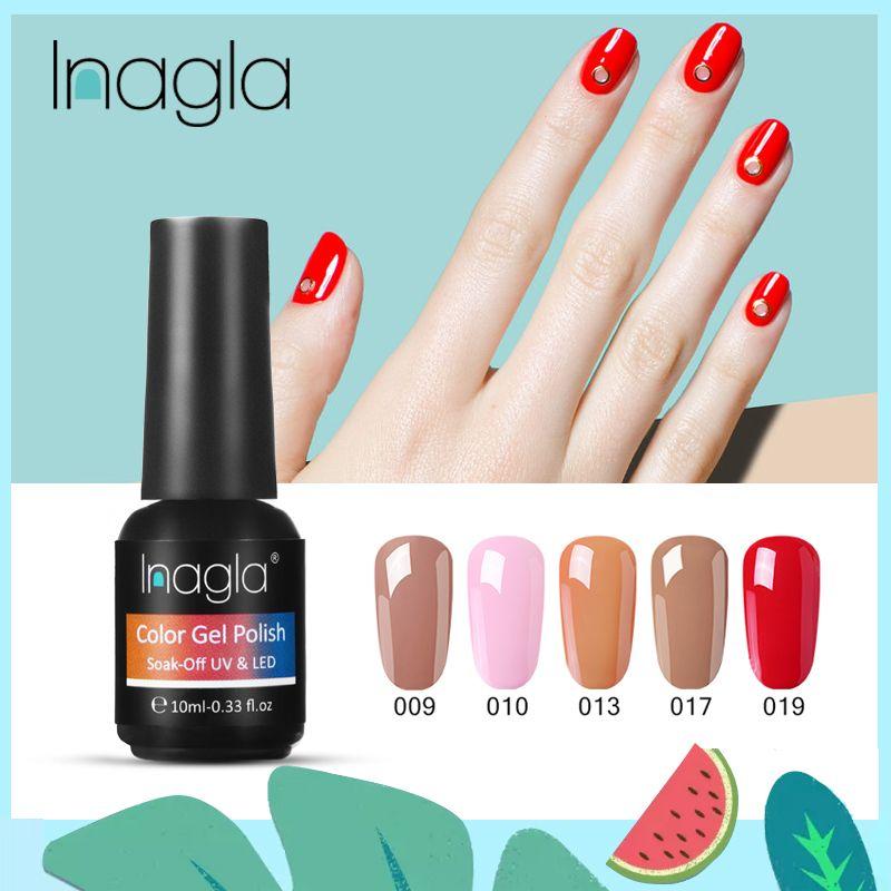 Inagla ногтей Гель-лак UV LED гель лак замочить Off лак для маникюра Гибридная Картина Нужна база Top Coat для домашнего использования DIY