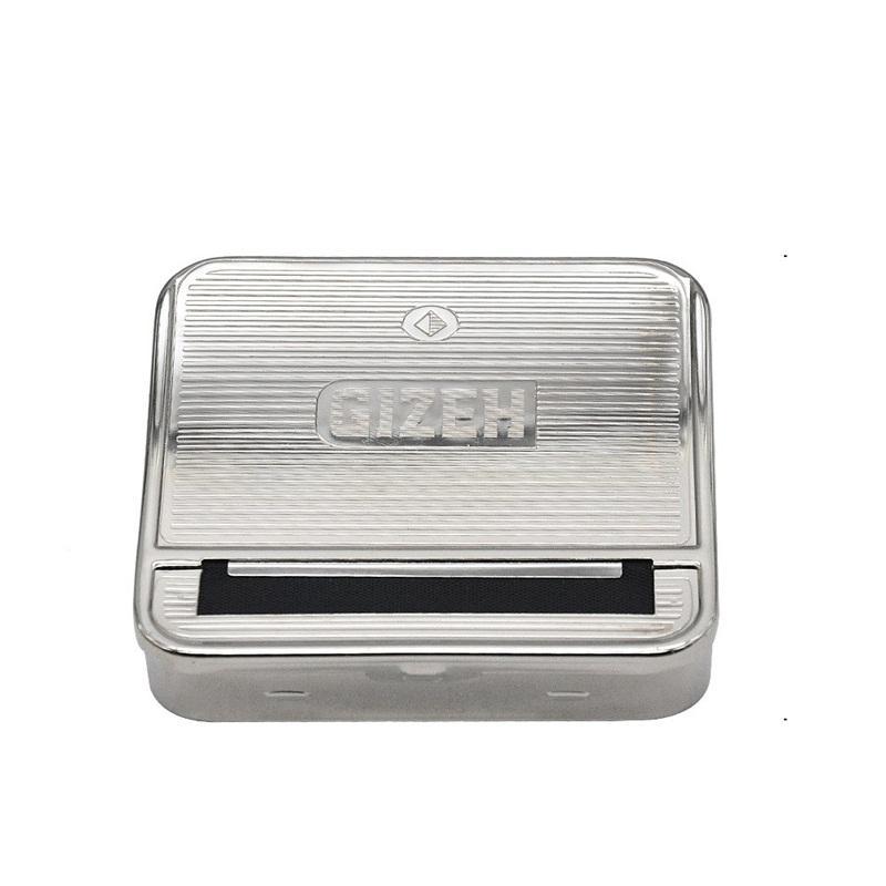 الهرم السجائر صندوق المتداول آلة 70MM شبه المعدنية التلقائي حالة التخزين ذكر وأنثى ومقاومة للخدش 5 5yh C1