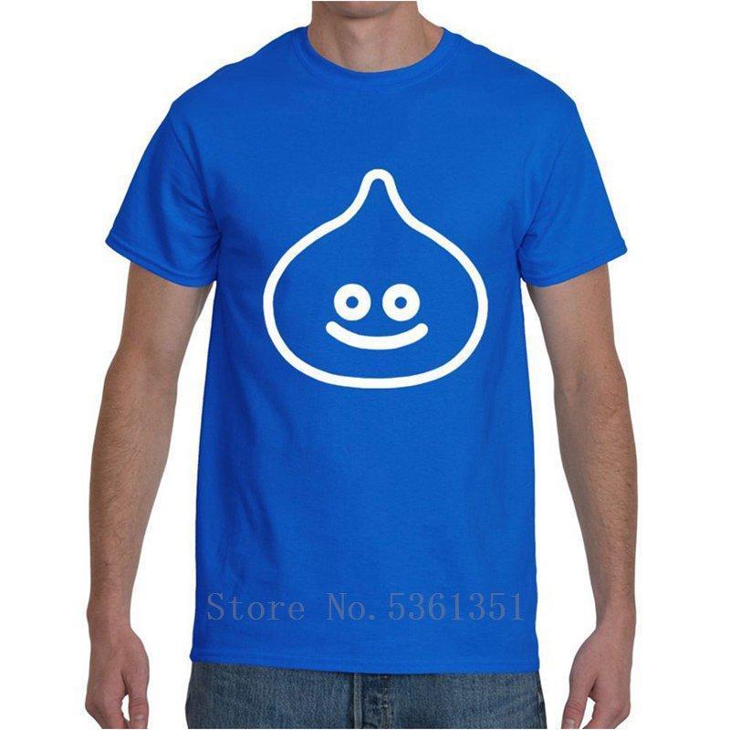 kurze Ärmel Blau Männer-T-Shirt Größe beiläufiger kühler Stolz T-Shirt Männer Neu Dragon Quest Slime Retro-Mode Unisex-T-Shirt