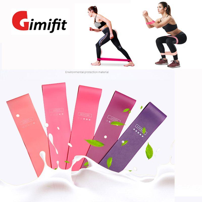 5pcs Training Fitness Gum Exercise Gym Strength Resistance Bands Pilates Sport