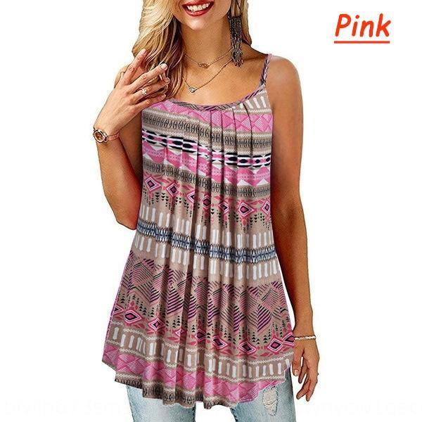 2020 novos das mulheres impresso plissado solta suspender 2020 nova feminino impresso estilingue camisa shirtsling shirtpleated camisa suspender solta