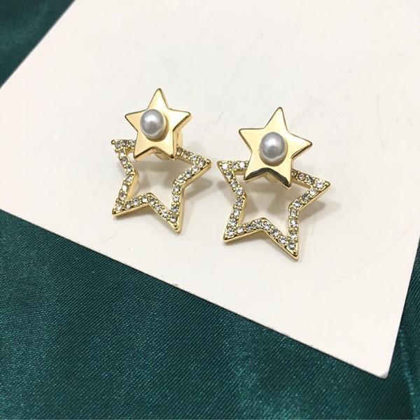 Hot Selling Explosion Stars and Diamonds Personality Designer Earrings luxury designer jewelry women earrings