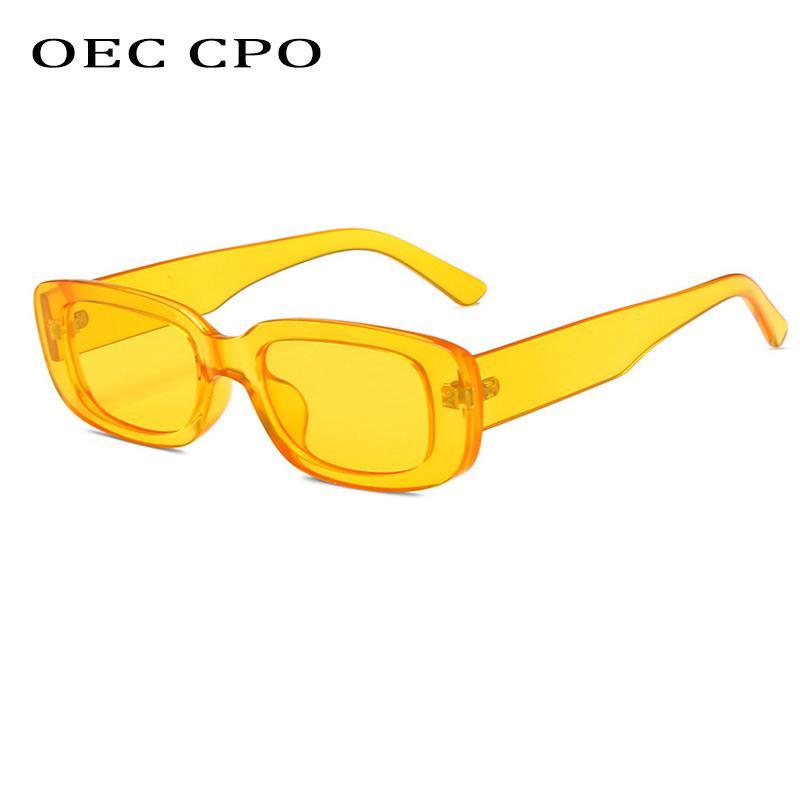 OEC CPO MARCA de la moda gafas de sol de las mujeres del rectángulo nuevo cuadrado señoras Gafas de sol UV400 de la vendimia Mujer al aire libre de las lentes UV400
