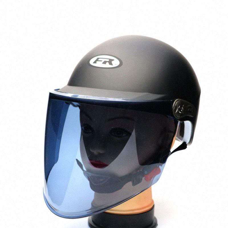 Yingrun Helm Mann Frau electrombile Helm Universal-Motorrad-Reiten Sommersonnenschutz Hart Nhir #