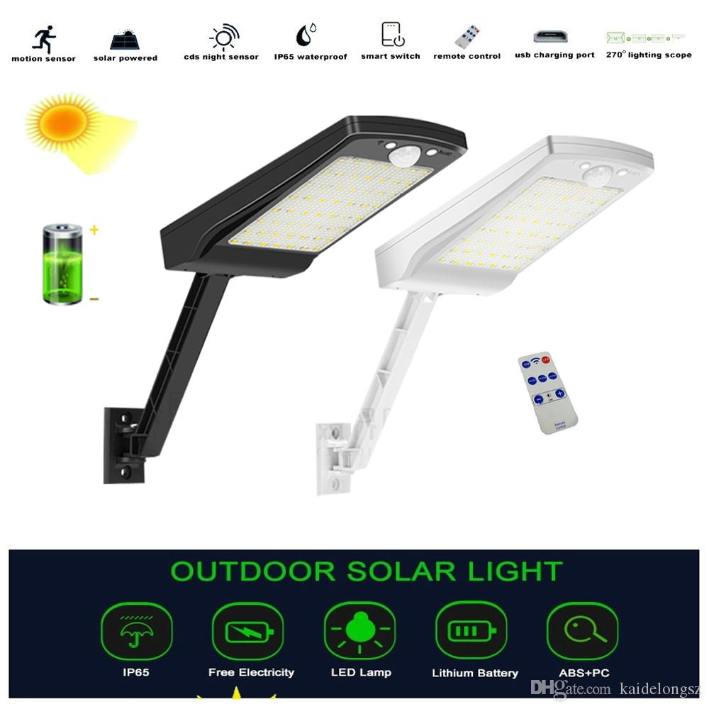 hanging solar garden led lights outdoor Remote Control lamp Street Wall Light PIR Motion Sensor 3 Mode Lamp