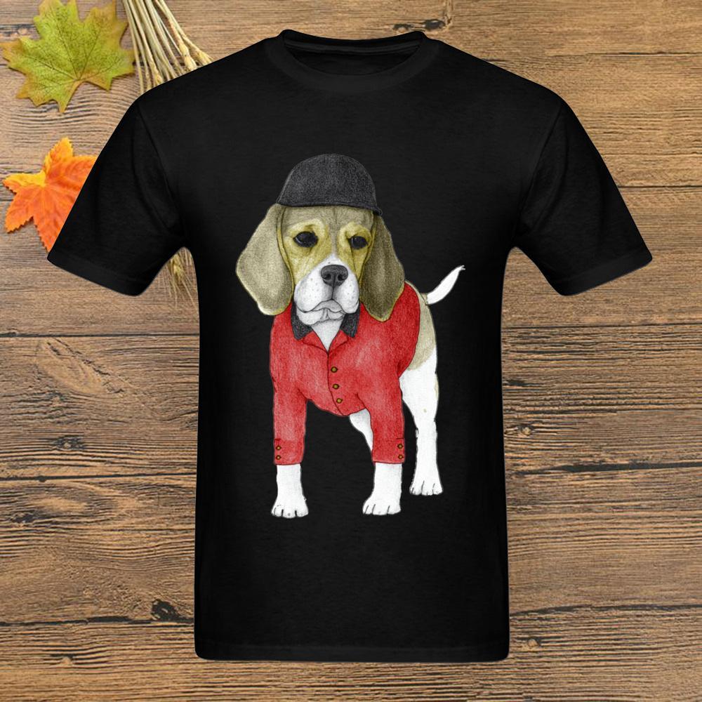 2020 Mens-T-Shirt Beagle-Hund Fitness Männer schwarzes T-Shirt Haustier-Liebhabers Druck Cartoon-T-Shirt No Fade Individuelle