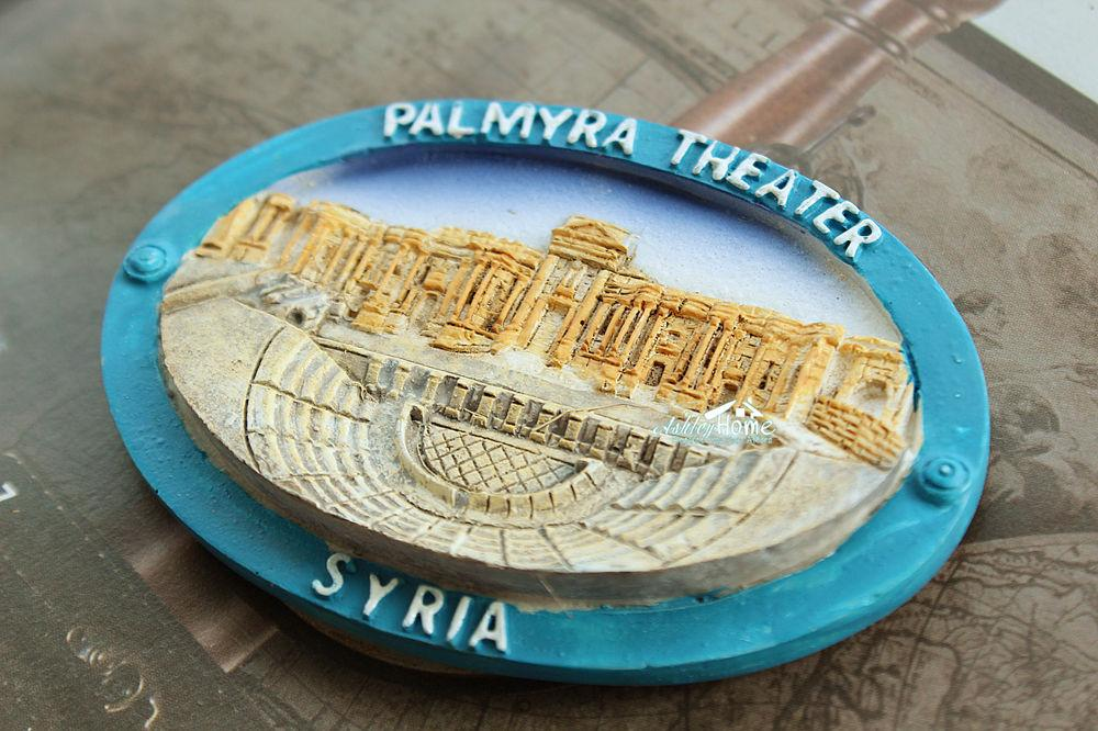 Siria, Viajes Palmyra Teatro Turismo recuerdo Resina 3D Imán del arte del regalo IDEA