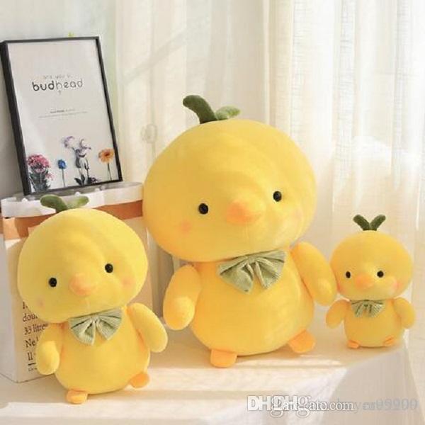 1PC 25-50CM Kreative kleine gelbe Küken Huhn Stofftier Plüschtier Netter Huhn-Plüsch-Puppe-Kissen-Jungen-Mädchen-Geburtstags-Geschenke