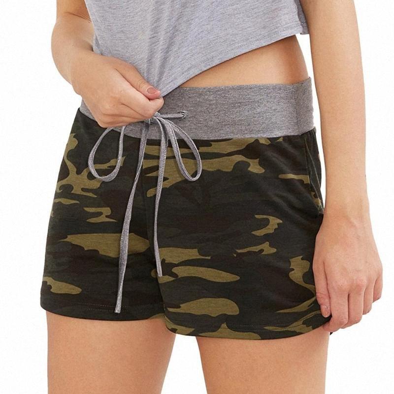 Fitness Pantaloncini da corsa estate delle donne Camouflage Workout Yoga Shorts con coulisse casual 2020 il jogging jbbe #