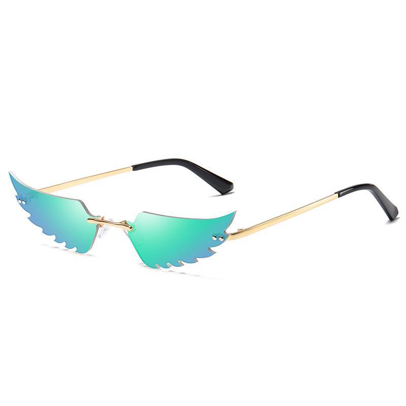 2020 레트로 파티 날개 모양 선글라스 여성 여성 무시 슬림 태양 안경 안경 럭셔리 트렌드 좁은 슬림 선글라스 축제 선물