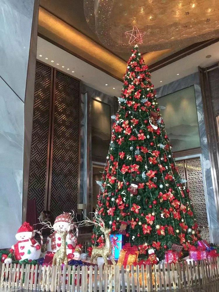 Christmas Decorations Christmas Large Steel Frame Tree Frame Hotel Shopping Mall Outdoor Scene Decoration All Christmas Decorations An GL7K#