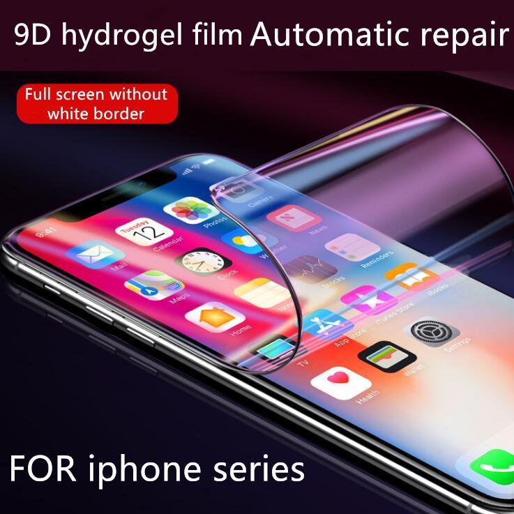 Für iphone x Telefon Film Heißer Verkauf 9D Hydrogel Film Displayschutz weichen Nicht-Glas-Fabrik Direktvertrieb Unterstützung 2ST Lieferung