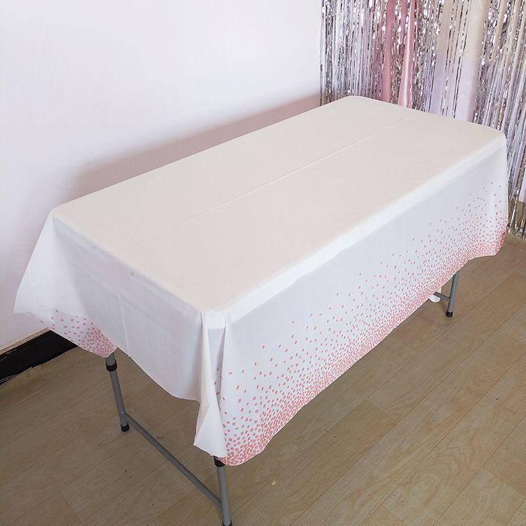 لوازم 137x274cm البلاستيك مفرش المائدة زفاف عيد ميلاد الحزب الغلاف الجدول الديكور المنزلي المتاح الجدول القماش
