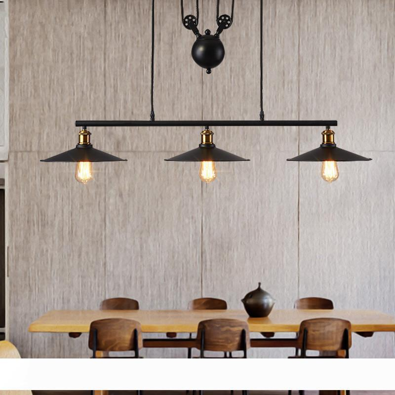 Vintage Pendant Light Kitchen Fixtures Loft Style Hanglamp Pulley Retro Lamp Black Metal Industrial Pendant Lamp Luminaria Ceiling Light Fixtures Kitchen Pendant Lighting From Girban 230 08 Dhgate Com