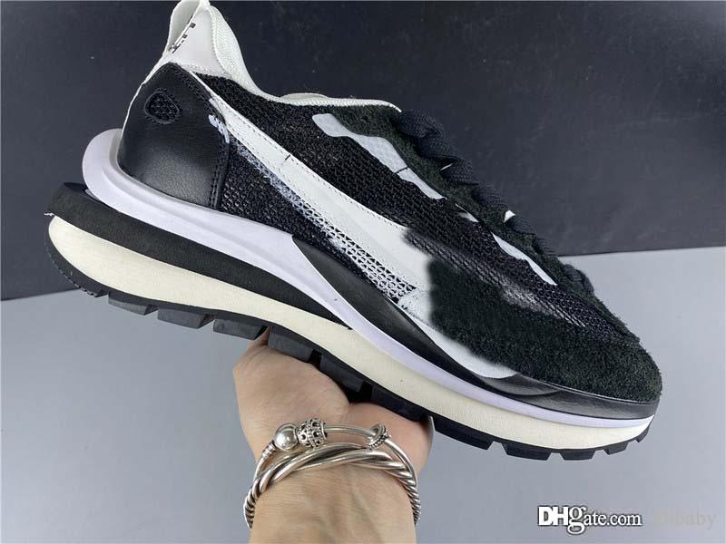 2020 En İyi Otantik Sacai Pegasus VaporFly SP Erkekler Siyah Zirve Beyaz Saf Platin Man Spor Sneakers ile Kutu Koşu Ayakkabıları x