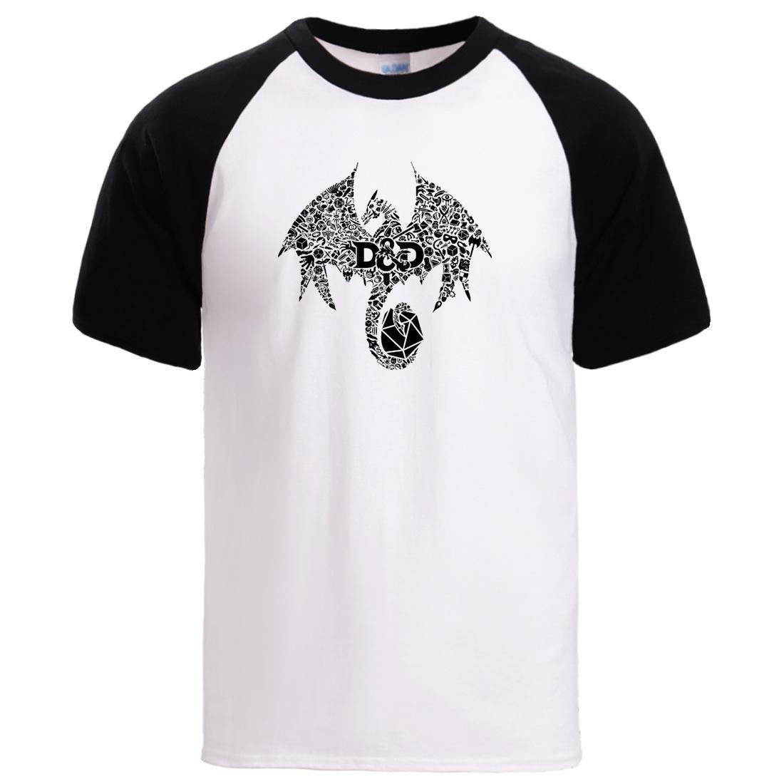 Mosaico Drago magliette 2020 Mens estate allentato cotone Maniche corte Maglia Tshirt Uomo casuale Raglan manica magliette dell'uomo tee shirt