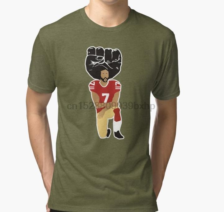 Colin Kaepernick Kneeling Im With Kap Tri harman T Gömlek kadınlar Tişört tee üst tişört Erkekler