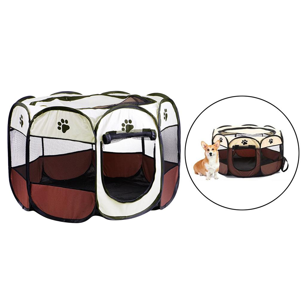 Portable Soft Pet Collapsible Playpen Kennel Fences 8 Panel,Sets up in seconds