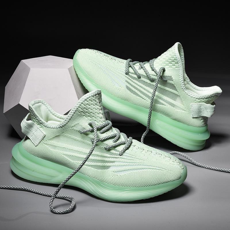 2020 Asriel Oreo Israfil Kanye Yecheil Yeshaya Noir statique hommes réfléchissantes femmes Chaussures de course Cinder Desert Sage Marsh Lin sneaker 39-45