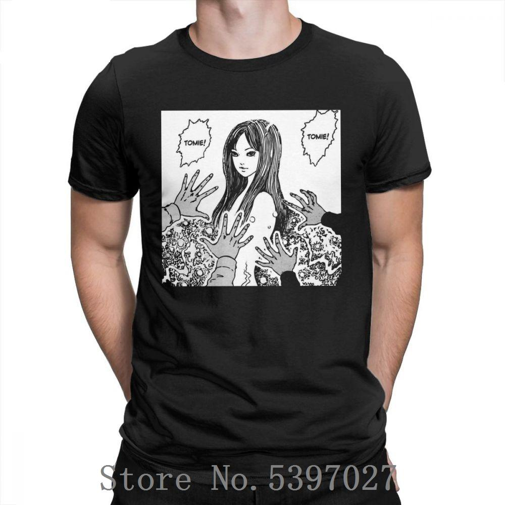 Junji Ito T-shirt Anime Manga Japão Horror Kawaii assustador Homem bonito camiseta de algodão roupas puro design t-shirt de manga curta casuais