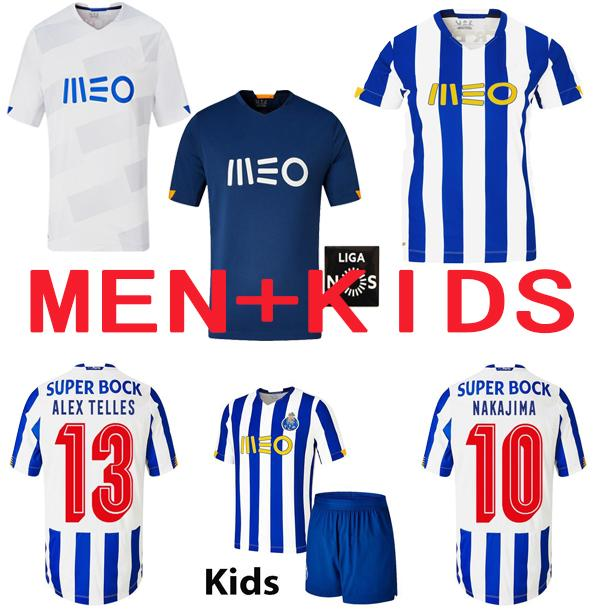 20 21 NAKAJIMA Alex erzählt Fussball Jersey Pepe Aboubakar Football Jerseys2020 Futebol Clube Männer + Kinder Kit Uniformen