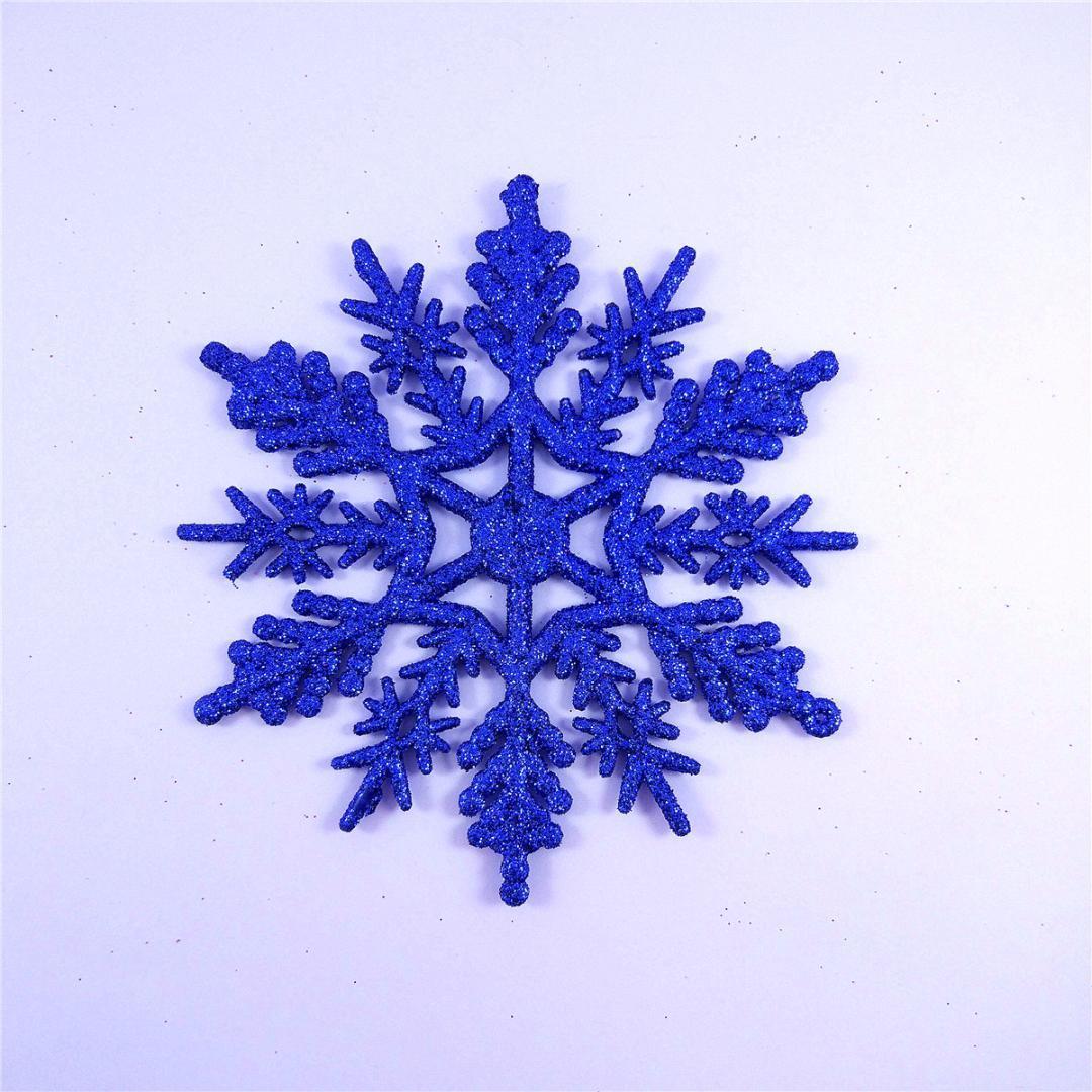24X New Schneeflocken Weihnachtsbaum-Dekoration Weihnachten Ornament Neujahr Baum Anhänger Fenster Dekor für Haus