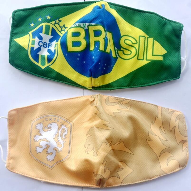 Calcio souvenir materiale della nazionale di basket di cotone Soccer Fans maschere traspirante maschera Sport all'aria aperta riutilizzabile lavabile Viso