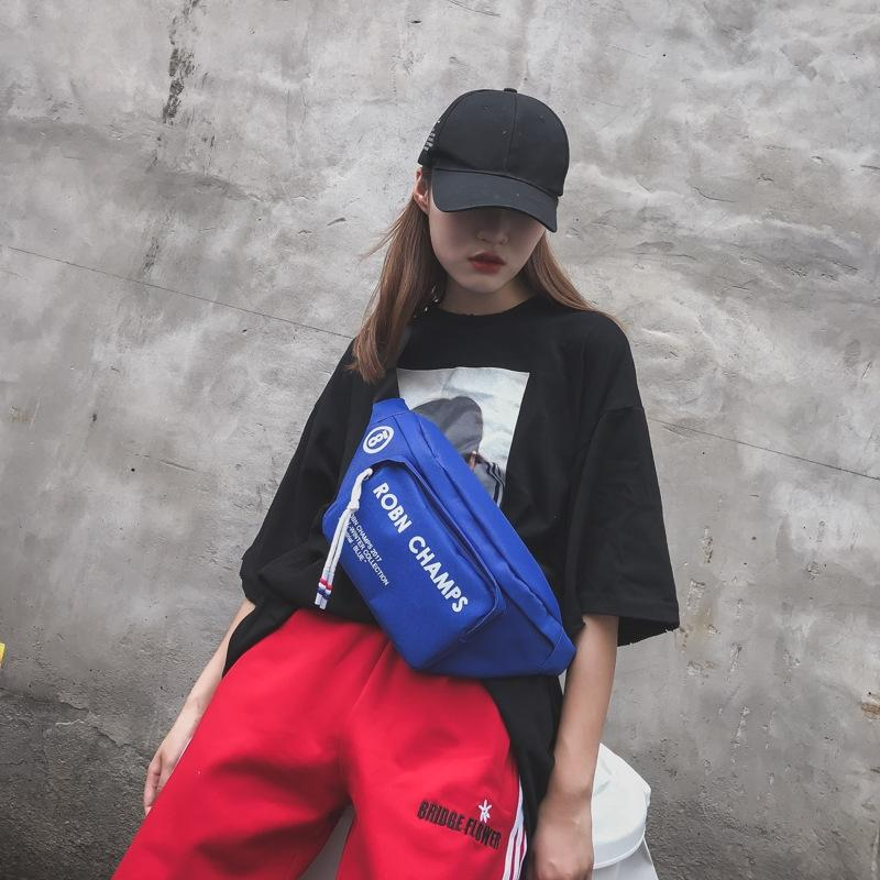 paño de Oxford Nueva carta femenina en los deportes de la moda coreana de funcionamiento hombro pecho paño del bolso del bolso multifuncional Oxford