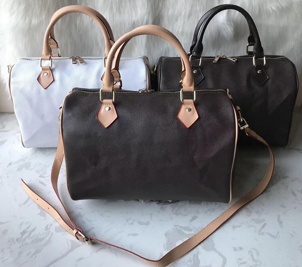 2020 Mulheres saco do mensageiro clássico do estilo de moda saco sacos mulheres Bolsas de Ombro Lady Totes handbags 35 centímetros Speedy Com alça de ombro, bloqueio