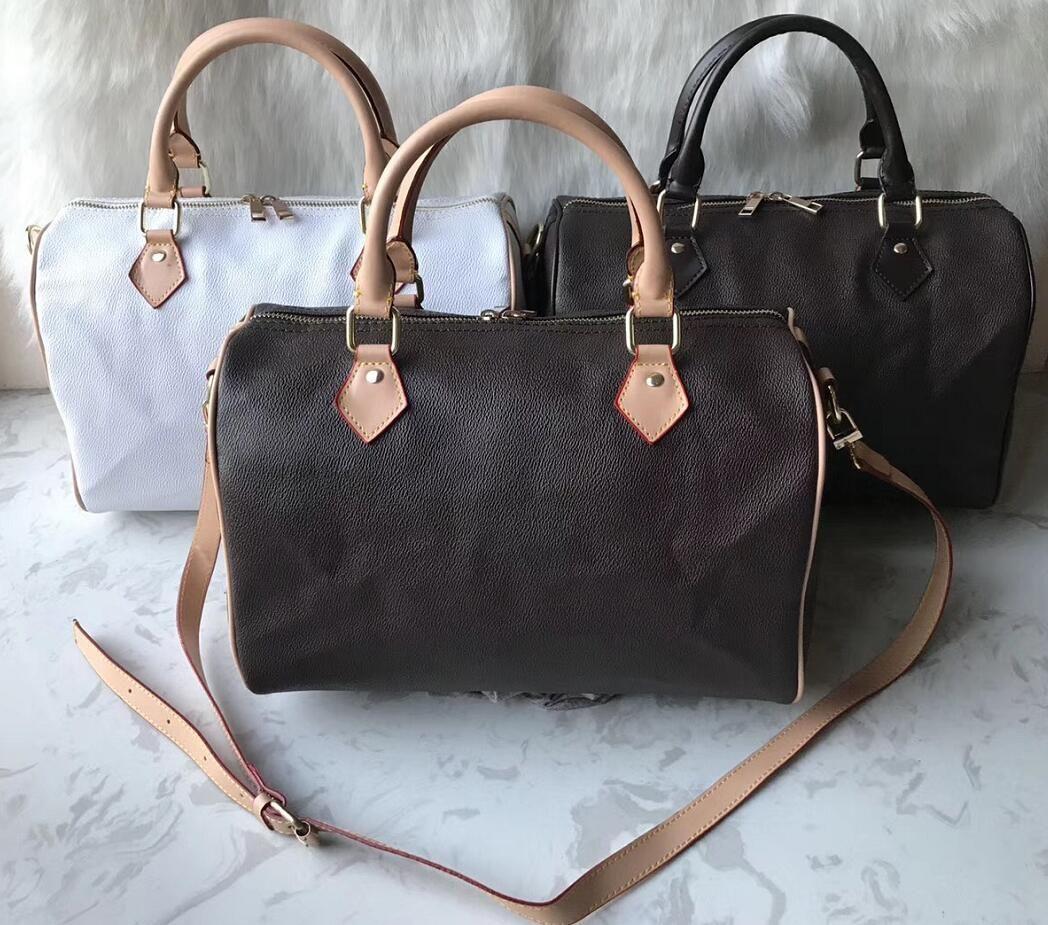 2020 bolsa de mensajero de las mujeres del estilo de la moda clásica de los bolsos de hombro del bolso de las mujeres bolsas Señora Totes bolsos 35cm Speedy con correa para el hombro, bloqueo
