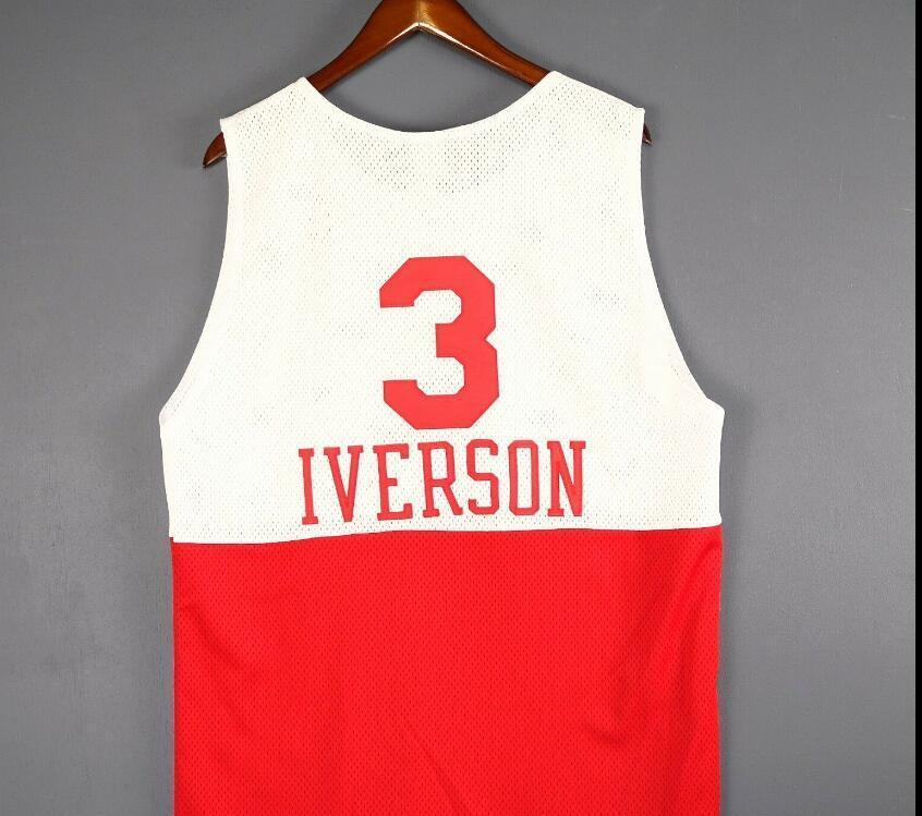 Personalizado Homens Juventude mulheres Allen Iverson Basketball Jersey Tamanho S-4XL ou personalizado qualquer nome ou número de camisa