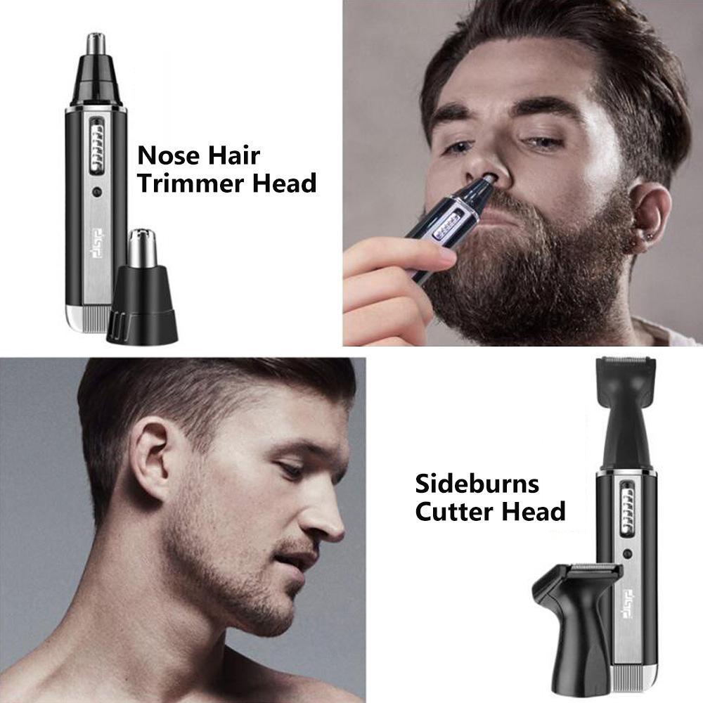 انفجار 4 في 1 رجل الوجه آلة الحلاقة مزيل الشعر متعدد الوظائف الأنف الكهربائية إزالة الشعر سفينة الحاجب آلة الحلاقة الحرة